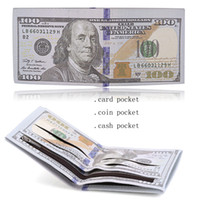 Wholesale Dollar Bill Wallets - New Arrival Men's World Currency Bill Wallet Bifold PU Money Wallets Short Purse USD Dollar Pound Card Holder Children Kids Gifts ELW012