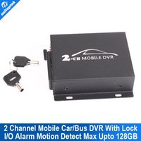 Wholesale Mobile Bus Dvr - Mobile DVR 2CH Bus Vehicle Security DVR With Alarm Motion Detective 24 Hours Monitor Support SD Card Upto 128GB Remote Control