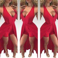 Wholesale Maxi Pants Chiffon - 2016 New Pattern Sexy Reveal Back Chiffon Even Clothes Pantskirt Lin Tai Pants Woman Casual Maxi Dress Long Sleeves Bodycon Dresses