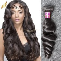 Wholesale Loose Wave Remy Weave - 7A Unprocessed Brazilian Hair Weave Peruvian Malaysian Indian Remy Virgin Hair Extensions Natural Color Loose Wave Human Hair Free Shipping