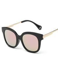 Wholesale Cheap Vintage Designer Bags - HD Sun Glasses For Men Polarized Designer Women Men Vintage Eyewear Tinted Wayfarer Sunglasses Cheap Korean Fashion Driving Glasses With Bag