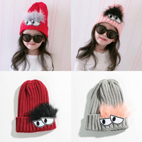 Wholesale Boys Toddler Fitted Caps - 2017 Autumn Winter 3-6Years Baby Hat Cotton Beanie Cap Toddler Infant Baby Girls and Boys Knitted Hats GH119 Kids Hats & Caps
