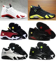 Wholesale Red White Candy Canes - 2016 Retro 14 Men Basketball Shoes Sneakers Forest Green Red Grey 100% Original Quality 14s Candy Cane Cheap Sale online