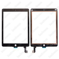 pantallas de ipad oem al por mayor-20PCS OEM Pantalla táctil Cristal Panel digitalizador para iPad Air 2 ipad 6 Balck y blanco DHL gratis
