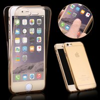 Wholesale Iphone Smart Cover Front - 360 Degree Case For iPhone 7 5 5S 6plus Front Back Combo Protective Soft TPU Clear Transparent Cover For iPhone5 5S SE i6 6S Smart Touch