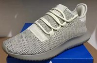 Wholesale Knitting Elastic Band - Wholesale 2017 Mens Womens Originals Tubular Shadow Knit Core Black White Cardboard Sneakers Running Shoes 350 boost 3D Sneakers 5-11