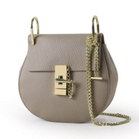 Wholesale cheap quality bags - Young Ladies Fashion Shoulder bags High quality leather mini casual bags High quality hardware buckle and chain amazing cheap Accept OEM