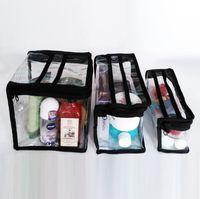 Wholesale Clear Plastic Makeup Bags - professional transparent beauty cosmetic bag, clear PVC waterproof plastic makeup storage organizer