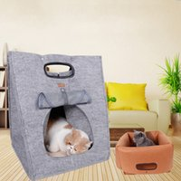 Wholesale Carrier Bag For Pets - 40*40*48Cm Dog Bags Natural Polyester Pets Bag Keeps Warm Perfect For Outside Walking Brown Grey Color Dog Carriers Multi Function