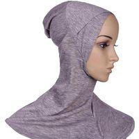 Wholesale Wholesale Yarn Products - Muslim Hijab Caps Hijab Scarf Women Ninja Underscarf Caps Islamic Product Instant Turban Cotton Black Full Cover Jersey Bandana