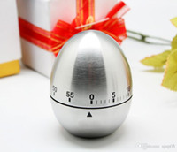 Wholesale Stainless Steel Egg Timers - Mechanical Egg Kitchen Cooking Timer Alarm 60 Minutes Stainless Steel with retail box free shipping