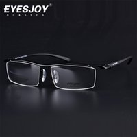 Óculos de titânio EYESJOY Brand Deasigner Óculos Ultra-light Half Frame Men's Optical Glasses Frames Wholelate para computador EJ218