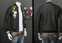 Wholesale Cool Jacket Designs - New men brand design bomber jacket mens luxury crane Embroidery high quality fashion coats cool super star style outwear men brand-clothing