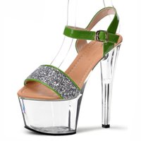 Wholesale Roman Sandals Style Shoes - Shiny high heels sandals women high heels the eu with sexy Roman style crystal shoes