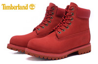 Martin Boots original sewing - Original Fashion Brand New Classic Timberland Inch Premium Boots For Men outdoor Waterproof Red boots size