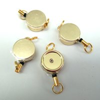 Gold Retractable Ski Pass ID Badge Porta badge Reel Pull Gold Key Nome Titolari di carte tag per School Office Company