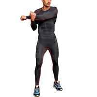 Wholesale Skins Compression Wholesale - Wholesale-Mens Athletic Pants Compression Running Sports Training Base Layers Skin Tights Quick Dry Free Shipping