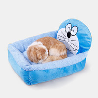 Wholesale Blue Kennel - Winter Warm Cartoon Dog Bed House Pens Mat Cozy Soft Sofa Detachable Kennel For Small Puppy Dogs Cats
