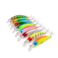 baixo vivo venda por atacado-Sangramento biônico Artificial Isca De Pesca 9.5 cm 9g Rainbow cores Vivo Alvo Baixo isca Mergulho Profundidade 0.5-2.5 m