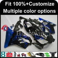 Wholesale Honda F4i Blue Flame Fairings - Injection mold Dark blue flames motorcycle cowl for HONDA CBR600F4i 2001-2003 F4i 01 02 03 ABS Plastic Fairing