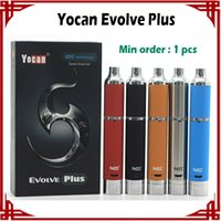 Wholesale Black Version Pc - [ sp ] 1 pc Yocan Evolve Plus Kit 1100mAh Wax Pen Wax Vaporizer Quartz Dual Coil Updated Version of Evolve E-cigarette Kits