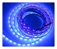 puissance Décoration de vacances Publicité Violet Ampoules Uv Ultra Violet New 5m / lot 5050 395-405nm 300 60 Leds / m Led Light Strip étanche