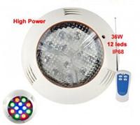 führte 12v rgb piscina großhandel-AC 12V 36W LED-Unterwasserpool-Lampe für Garten-Brunnen-Wasser-Beleuchtung Piscina imprägniern IP68 RGB Blau-Rot-Grün Warmes Weiß