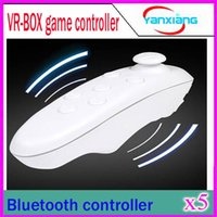 5PCS universale Bluetooth Remote Controller wireless joystick Gamepad del mouse Mini Wireless per Samsung Android VR 3D Box Games YX-BOX-V