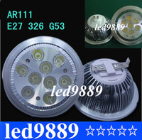 Wholesale AR111 Led G53 E27 GU10 W W Led Spotlights ceiling lamp Dimmable QR111 ES111 warm cool white led bulbs beam angle V220V