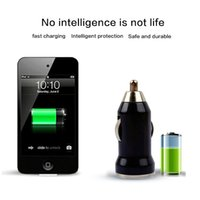 Wholesale Solar Mp3 Player - Portable Mini USB Car Charger USB Iphone Charger Universal Adapter for Samsung Galaxy Note 5 S7 4S Cell Phone MP3 MP4 Player