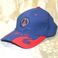 Wholesale Paris Cap - Free Shipping Soccer Club Paris PSG Logo Baseball Hat Cap Sports Outdoor Embroidery Badge Football Sunhat Snapback Hip-hop Caps