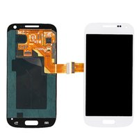 Wholesale S4 Mini New Screen - Blue White New well LCD Display For Samsung Galaxy S4 Mini i9190 i9195 i9192 LCD Touch Screen with Digitizer Frame