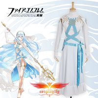 Wholesale Custom Made Free Postage - Wholesale-Free Postage Fire Emblem If Fates Birthright Aqua Dress Cosplay Costume Custom Made (W0795)