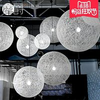 Wholesale Modern Minimalist Ball Chandeliers - 2017 Ma ball chandelier modern minimalist Scandinavian Living Room Restaurant Bar Bar twine led creative pastoral style chandelier