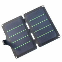 Wholesale Slim Solar Panel - BUHESHUI 11W 5V Sunpower Folding Super Slim Solar Panel Charger For Phone Universal Travel Solar USB Charger Waterproof New