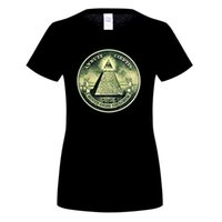 Camisetas woMen illuminati All Seeing Eye Pyramid Dollar Freemason Dios cuello redondo de manga corta Tshirs Youth Cool Design 3D camiseta