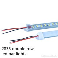 Wholesale Wholesale Traffic Lights - Double row LED Bar Light 0.5M 72LEDs led rigid strip aluminium DC12V SMD2835 LED rigid lights with PC Cover