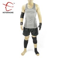 Wholesale Ankle Protection Football - Wholesale- Hitorhike 6Pcs 1Set Calf Support Ankle kneepad Elbow Protection Bracers Glove Elastic Basketball Football Hiking Sports ware