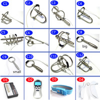 Wholesale Slimming Massager Sex - DIY Electric Urethral Sound Massager Slim Pulse Stimulate Electro Shock Urethral Catheter Penis Plug Dilator Sex Toys For Men A243 C