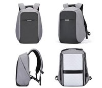 Wholesale Computer Safety - Man bag PVC coating waterproof backpack fashion safety anti theif laptop shoulder bag daily pack with USB interface