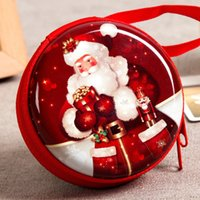 Red Christmas Candy Box Regali di cioccolatini borsa Portafogli portatili Coins Porta USB Organizer Boxes Novità Party Decorazione Forniture LZ0575