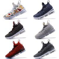 Wholesale Sports Shoe Zippers - KITH x Zoom 15 Black Red basketball shoes For Sale Arrival with Zipper James 15 Sneakers 15s Airs Cushion Sports size us7-us12