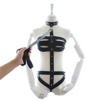 Wholesale female slave costumes online - Bondage Restraints Kit Women slave Full Body Bind Belt Leather Sexy Costumes Dress Crazy Fetish Harnesses Bondage Sex Midnight Sexy Toys W88