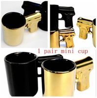 Wholesale Coffee Cup Pistol Handle - 1 Pair Creative Pistol Sons of Anarchy Gun Handle Coffee Mug Pistol Mug Ceramic Cup