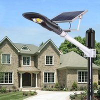 Wholesale Gate Lamps - LED Street Light 20W 30W Solar Lamp Integrated Led Street Lights Decoration Garden Yard Gate Led Solar Waterproof Outdoor Lighting