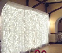 Wholesale Led Lighted Curtain Backdrops - Wedding Decoration Wedding Backdrop Curtain include LED String Lights The Cheapest Price