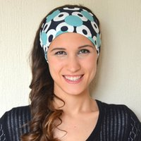 Wholesale NEW Fashion Fitness Headband Printed Bohemia Style Beauty Running sport Yoga Headbands Women Wide Head Wrap Various Gorgeous Pattern