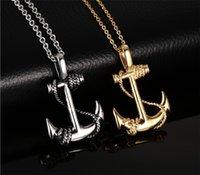 Wholesale Wholesale Man S Necklace Pendant - The European and American style Titainless steel anchor pendant anchor sautoir pendant Men`s Fashion Jewelry