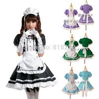 Wholesale Maid Uniform Cute - Wholesale-Lolita Cute Apron Maid Dress Meidofuku Uniform Outfits Anime Cosplay Costume S-XXXL