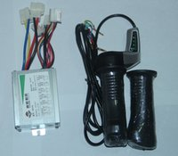Wholesale Electric Twist Throttle - Wholesale-24V 500W DC motor Brushed Controller +Electric Scooter Throttle Twist Grips Power Display